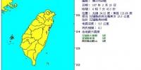 宜花凌晨连3震 最大规模4.5 最大震度3级 - 中时电子报
